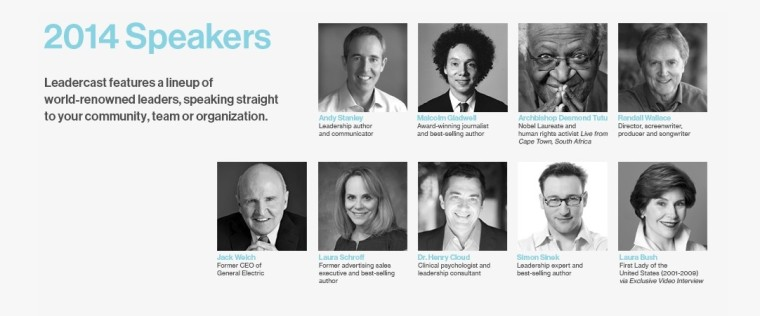 Leadercast 2014 Speakers